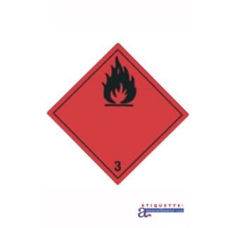Étiquette de classe 3 - Liquides Inflammables